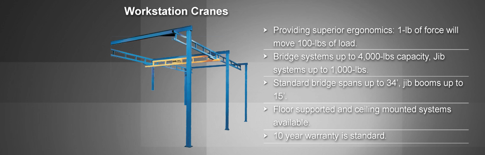 Ceiling Mounted Workstation Bridge Cranes Ase Systems