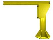 I-beam jib crane